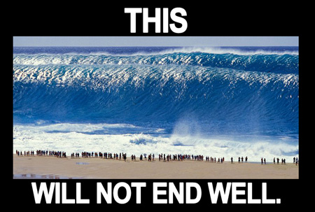 this will not end well - beach