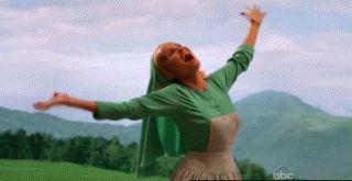 gifa - nonne qui danse - tralalalalala