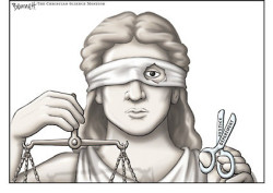 almost blind justice