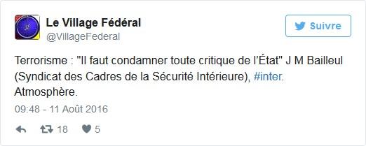 jm bailleul condamner critique état tweet